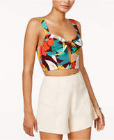 Astr Catalina Printed Crop Top