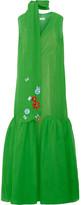 DELPOZO Embellished Silk-georgette Maxi Dress - Green
