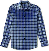 Vince Camuto Slim-Fit Windowpane Dobby Long-Sleeve Stretch Woven Shirt