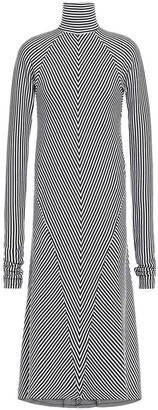 Haider Ackermann Striped Wool-jersey Midi Dress