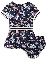 Splendid Girls' Floral & Striped Dress with Bloomers - Baby