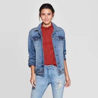 Universal Thread Women's Essential Solid Denim Jacket Blue