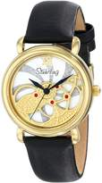 Stuhrling Original Women's 737.02 Vogue Pirouette Analog Display Swiss Quartz Black Watch