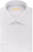 MICHAEL Michael Kors Men's Classic-Fit Non-Iron Purple Geo-Print Dress Shirt