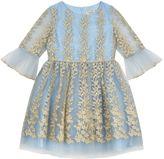 David Charles Embroidered Puff Skirt Dress