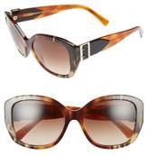 Burberry Women's 57Mm Gradient Butterfly Sunglasses - Brown/ Grey