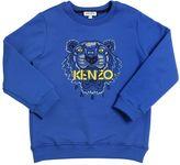 Kenzo Embroidered Logo Patch Cotton Sweatshirt