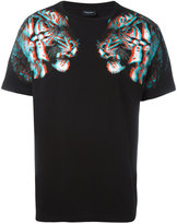 Marcelo Burlon County of Milan tiger hologram print T-shirt - men - Cotton/Polyester - S