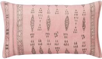 OKA Amezrou Multi Stripe Cushion Cover - Pink