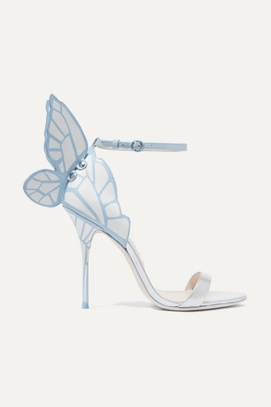 Sophia Webster Chiara Patent-leather Sandals - Blue