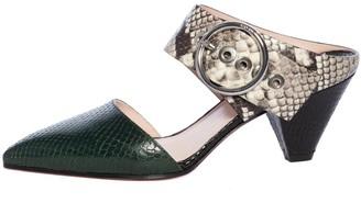 Salar - Cecilia Snake Mid Heel Slipper - Multi / 36