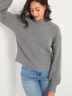 Old Navy Cozy Shaker-Stitch Mock-Neck Sweater for Women