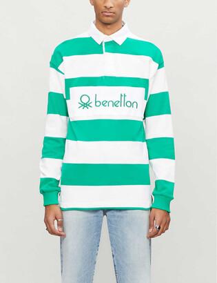 Benetton Striped cotton polo shirt