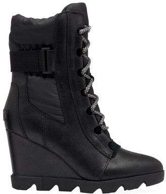 Sorel Joan Uptown Leather Wedge Boots