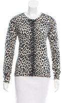 Magaschoni Leopard Print Cashmere Cardigan w/ Tags