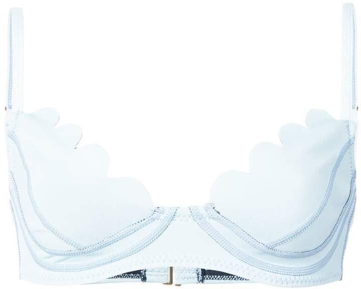Cynthia Rowley Betty scallop bikini top