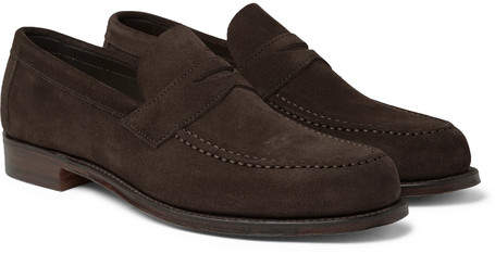 Cheaney Hugo Suede Penny Loafers