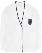 Brunello Cucinelli Wool-blend embellished cardigan