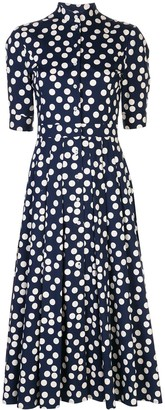 Carolina Herrera Polka Dot Midi Dress