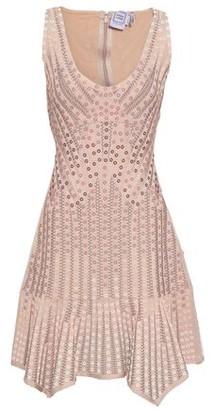 Herve Leger Embellished Jacquard-knit Bandage Dress