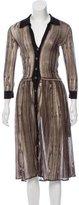 Samantha Sung Long Sleeve Wool Dress
