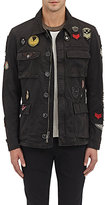 John Varvatos Men's Military Patch Jacket