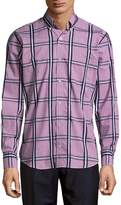 Tailorbyrd Men's Checkered Cotton Button-Down Shirt