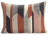 Design Within Reach Textured Stripe Pillow, Brown, Brown