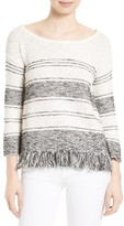 Soft Joie Women's Kenley Fringe Cotton Blend Sweater