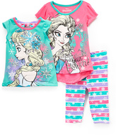 Children's Apparel Network Frozen Elsa Tee Set - Toddler