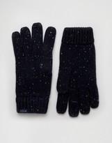 Jack Wills Lambswool Gloves In Navy