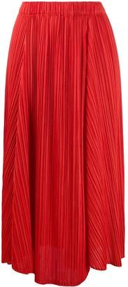 Pleats Please Issey Miyake Asymmetric Pleats Skirt