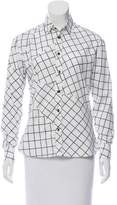 Tomas Maier Check Print Button-Up Top