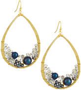 Nakamol Mixed Crystal & Pearl Teardrop Earrings