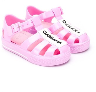 Dolce & Gabbana Kids Logo Patch Jelly Shoes
