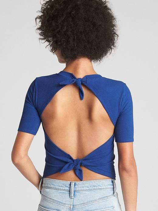 Gap Softspun Ribbed Tie-Back Top