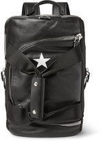 Givenchy Webbing-Trimmed Leather Backpack
