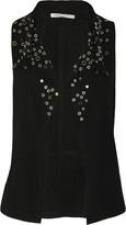 Studded suede vest