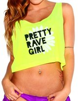 iHeartRaves Pretty Rave Girl Rave Crop Top