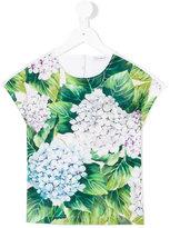 Dolce & Gabbana ortensia T-shirt - kids - Cotton - 3 yrs