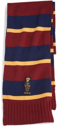 Polo Ralph Lauren Collegiate Bear Scarf