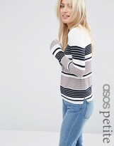 Asos Sweater With Crew Neck in Stripe