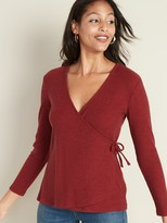 Old Navy Wrap-Front Rib-Knit Top for Women