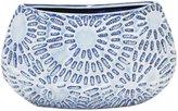 Three Hands Ceramic Vase - Blue/White