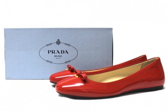 Prada Red Patent leather Ballet flats