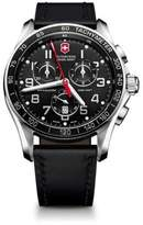 Victorinox Chrono Classic XLS Stainless Steel & Leather Chronograph Strap Watch