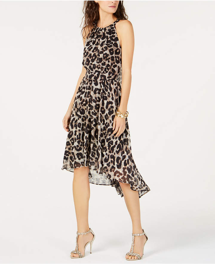INC International Concepts I.N.C. Cheetah-Print High-Low Dress, Created for Macy's