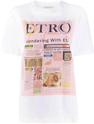 Etro logo graphic print T-shirt
