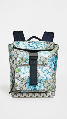 What Goes Around Comes Around Gucci Coated Canvas Blooms Backpack