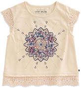 Lucky Brand Biscotti Lace-Trim Sloan Tee - Toddler & Girls